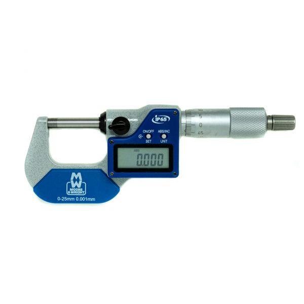 "Moore & Wright MW203-01DABI Digital External Micrometer IP65 0-25mm (0-1"")"
