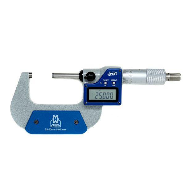 "Moore & Wright MW203-02DABI Digital External Micrometer IP65 25-50mm (1-2"")"