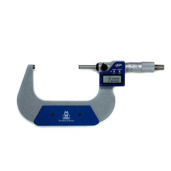 "Moore & Wright MW203-04DABI Digital External Micrometer IP65 75-100mm (3-4"")"