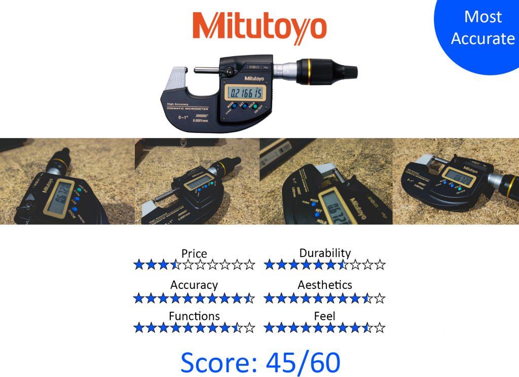 DML, 9 Best Digital Micrometers -Mitutoyo 293-130-10 Digimatic High-Accuracy Micrometer