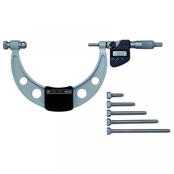 "Mitutoyo 340-720 IP65 Digital Micrometer Interchangeable Anvil 300-450mm (12-18"")"