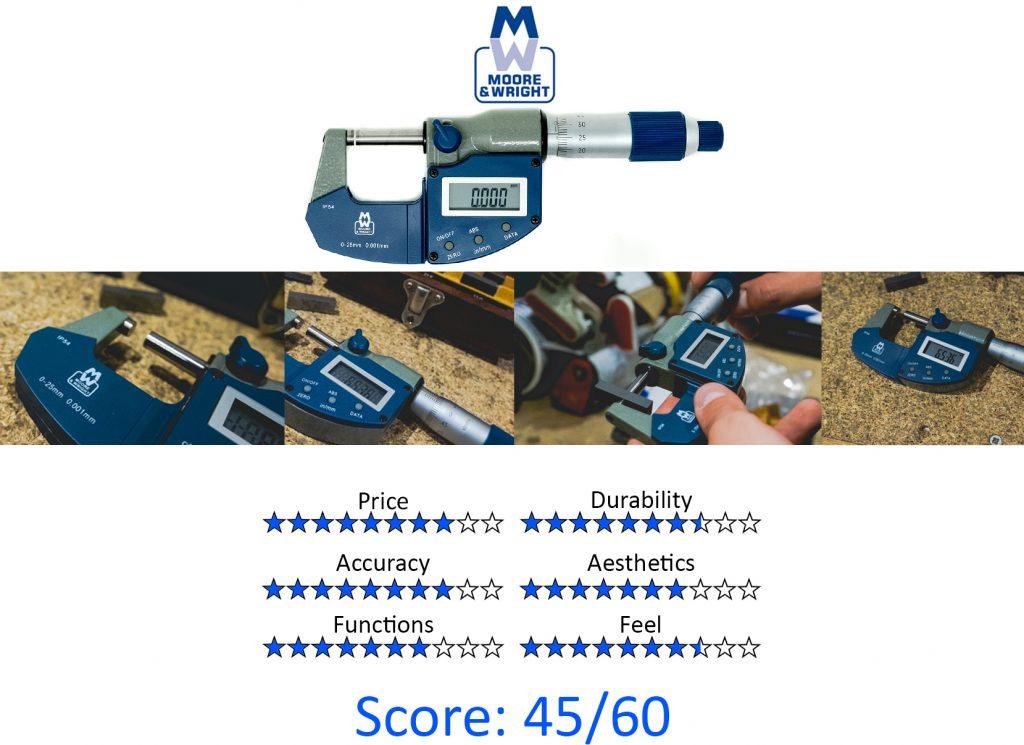 DML, 9 Best Digital Micrometers -Moore & Wright MW201-01DAB IP54 Digital Micrometer