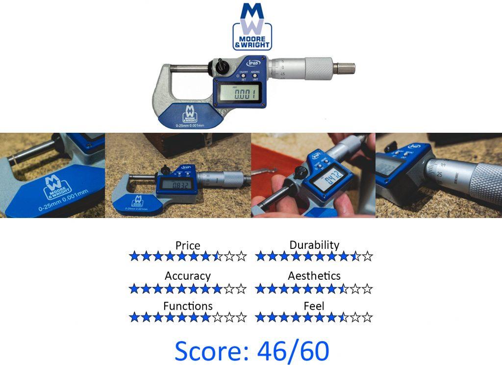 DML, 9 Best Digital Micrometers - Moore & Wright MW203-01DABI Digital Micrometer