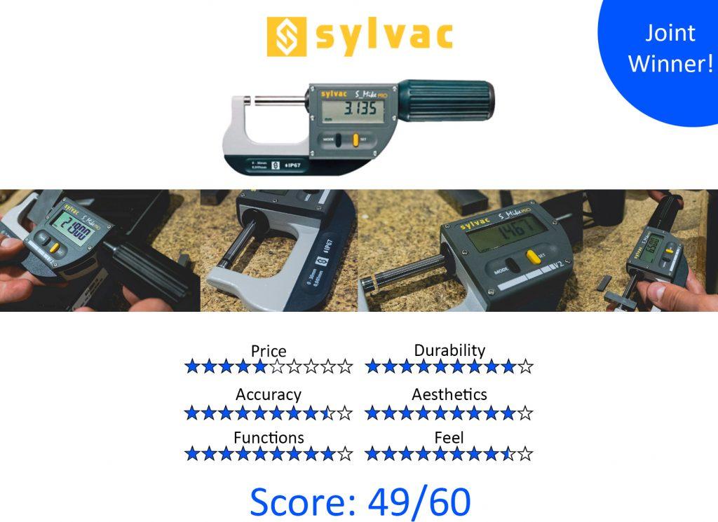 DML, 9 Best Digital Micrometers - Sylvac 30-803-0300 S_Mike Pro Digital Micrometer 0-30mm (0-1″)