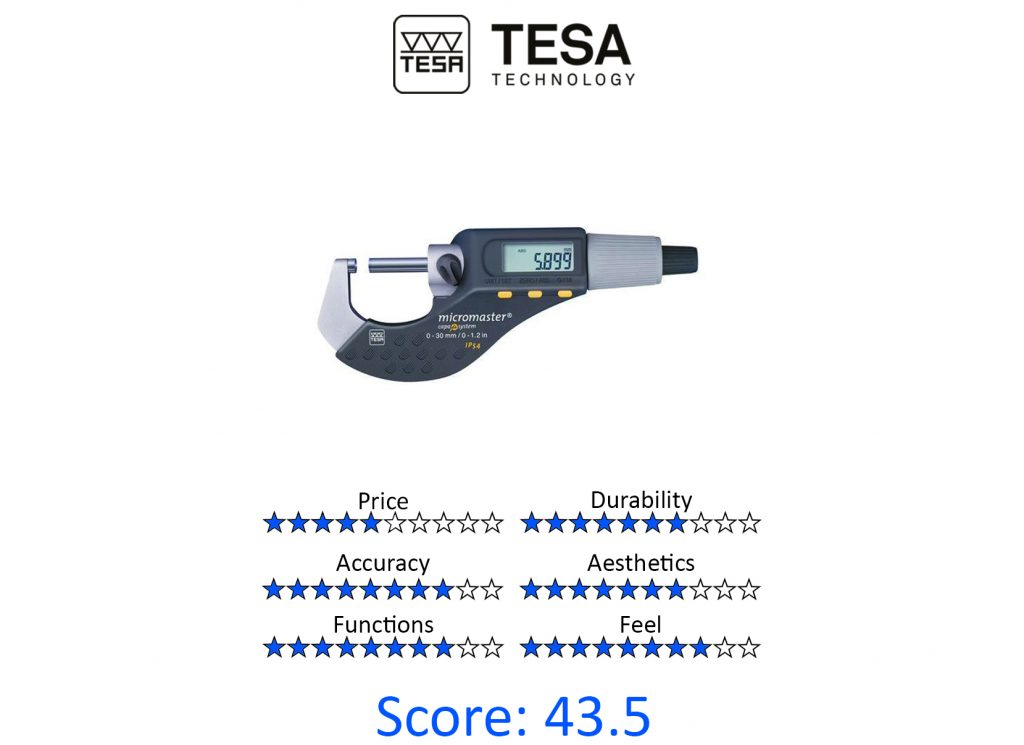 DML, 9 Best Digital Micrometers - Tesa 06030020 Micromaster Digital Micrometer